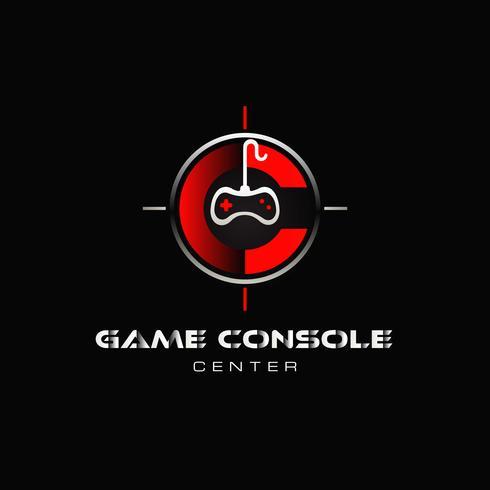 Controller di gioco nel logo di destinazione vettore