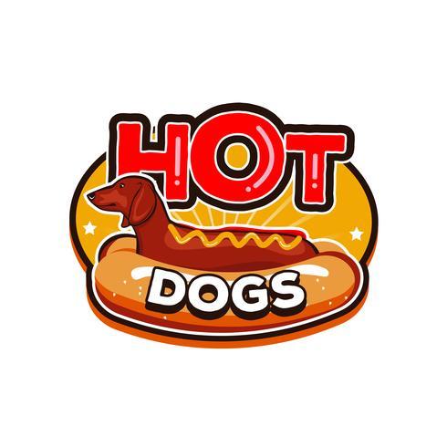 Logo Hot Dog Weiner Dog vettore