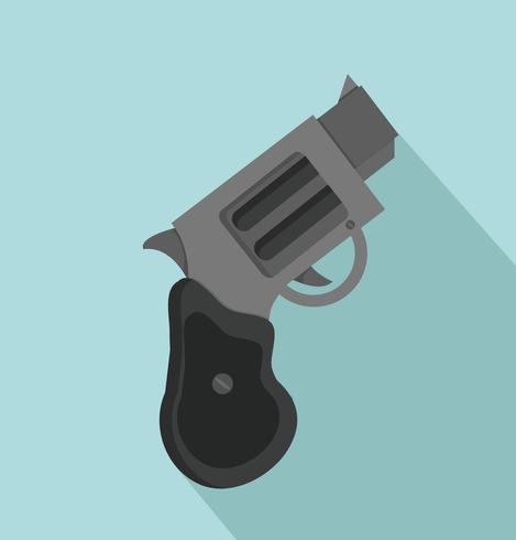 pistola con una lunga ombra vettore