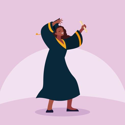 Progettazione di celebrazione di dancing della studentessa di laurea vettore