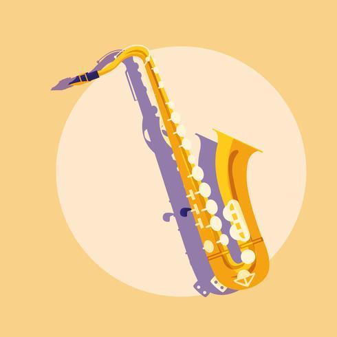 icona dello strumento classico sassofono vettore