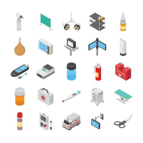 Pack di icone mediche e sanitarie vettore