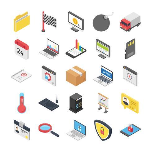 Pacchetto icone sicurezza e web vettore