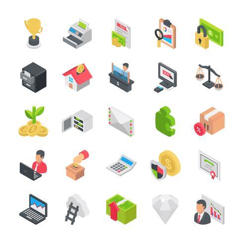 Pack di icone di affari vettore