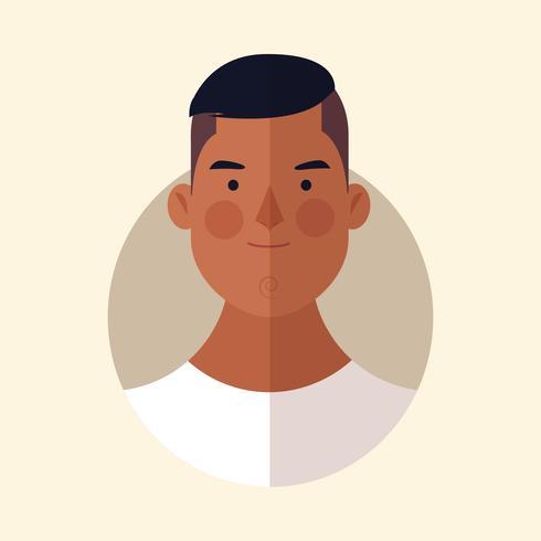 cartone animato volto di uomo vettore