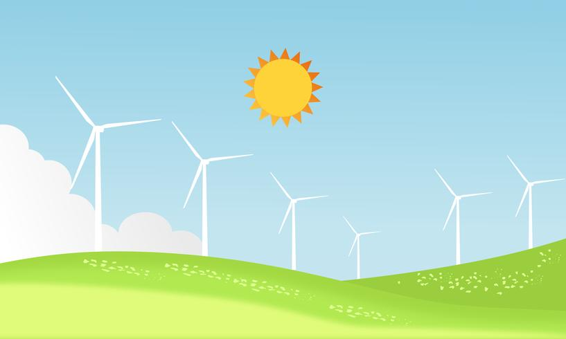 Progettazione di turbine eoliche vettore