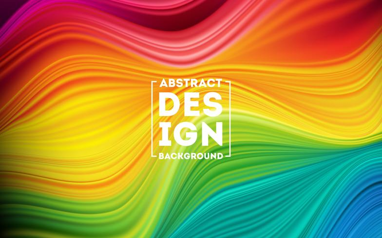 Poster moderno flusso colorato vettore