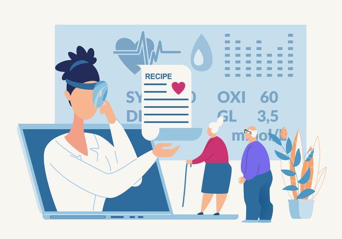 Cartellone pubblicitario Formulazioni farmacologiche Cartone animato vettore