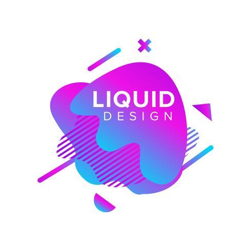 Forma liquida astratta di colore blu e viola vettore