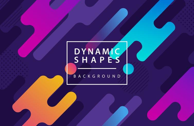 sfondo di stile moderno forme dinamiche. combinazione stile moderno astrazione con composizione fatta di varie forme arrotondate sullo sfondo. vettore