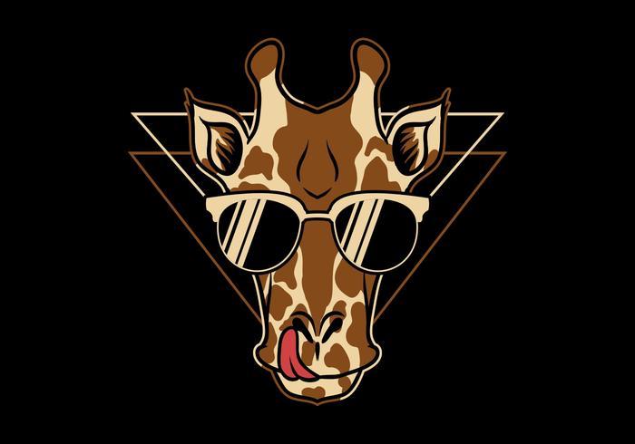 giraffa indossando occhiali vettore