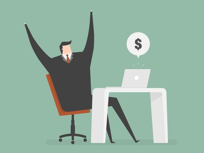 Reddito commerciale online vettore