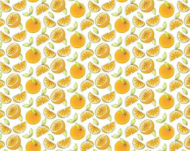 Sfondo di modello di frutta arancione vettore