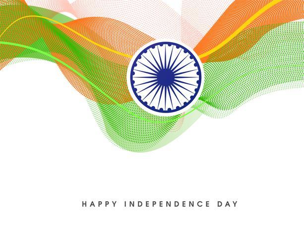 giorno dell'indipendenza Illustrazione vettoriale di onda