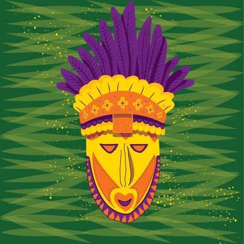 Maschera Papua Nuova Guinea vettore