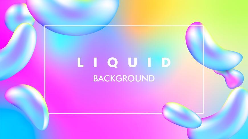 illustrazione liquida del fondo di vettore di colore