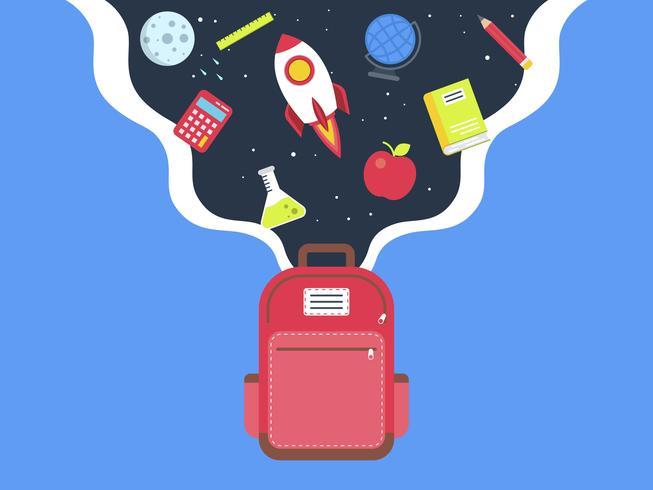 Torna al modello di poster di scuola vettore