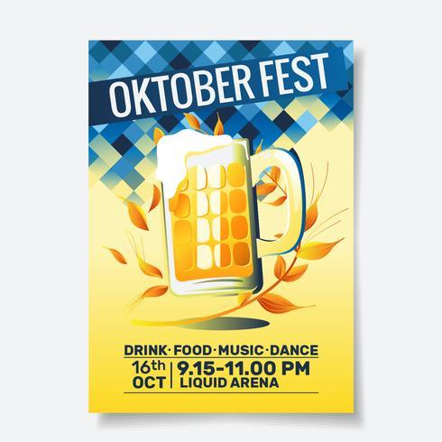 Volantino per festa dell'Oktoberfest vettore