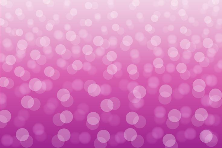 Gradazione del fondo di rosa del cerchio di Bokeh vettore