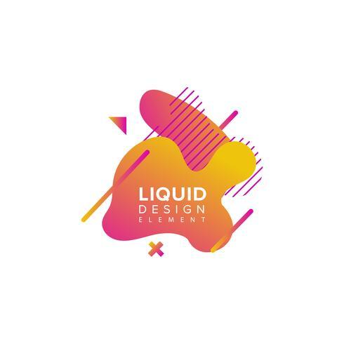 2 Forma liquida astratta colorata vettore