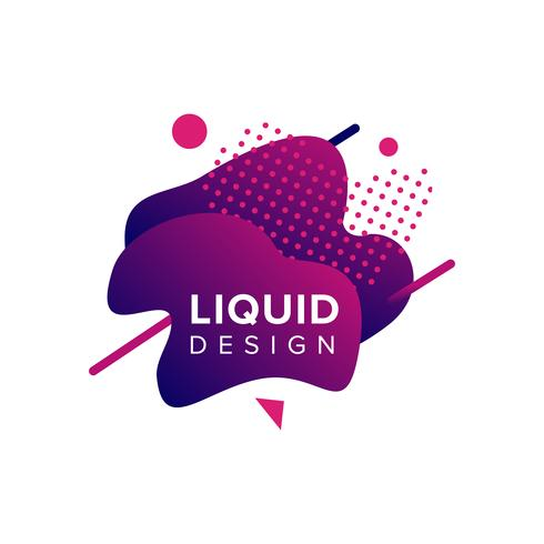 Forma liquida colorata vettore