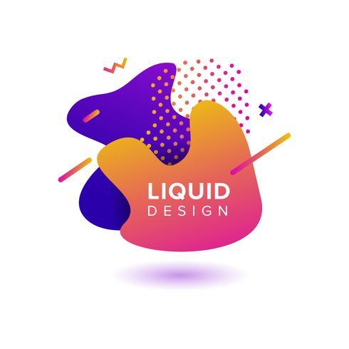 Forme liquide astratte di colore vettore
