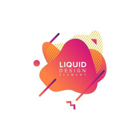 Forma liquida astratta di colore vettore