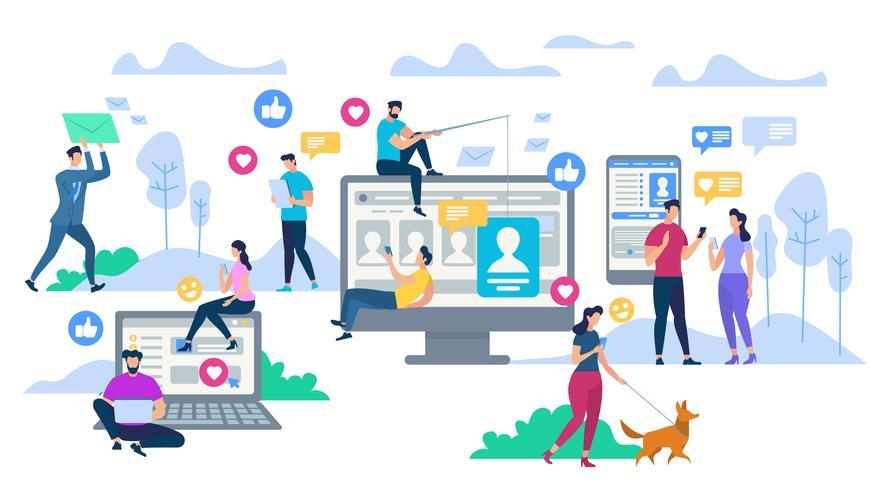 Social media vettore