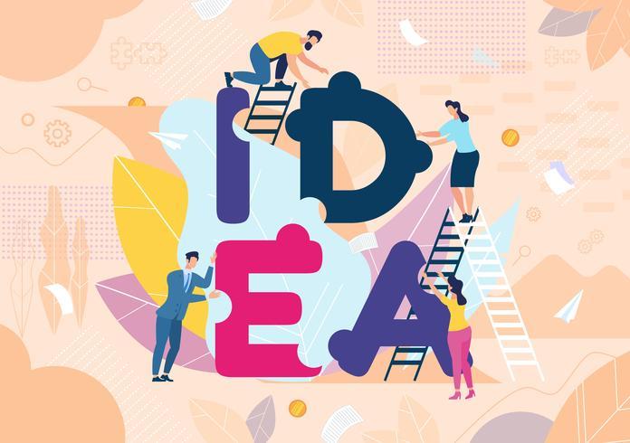 Insegna creativa di motivazione di pubblicità di idea vettore