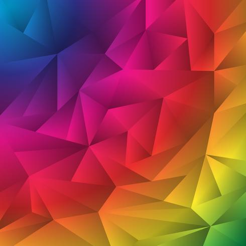 Modello di stile origami triangoli sgualciti geometrici multicolor vettore
