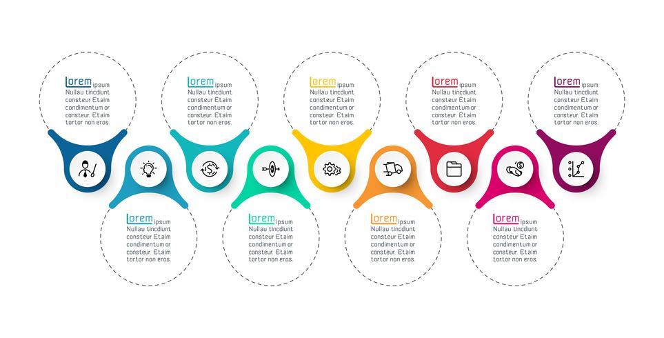 Barra infografica ad anello vettore