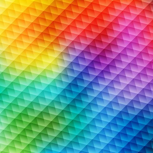 Esagono colorato geometrico vettore