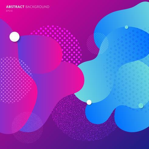 Modello gradiente di colori fluidi geometrici moderni colorati vettore