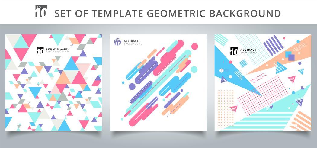 Set di copertine di motivi geometrici vettore