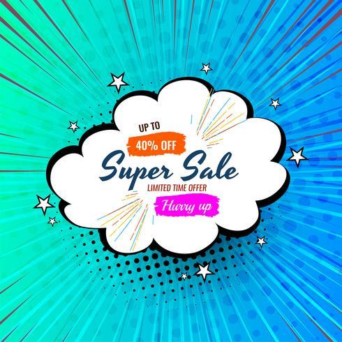 Distintivo di vendita stile cartone animato vettore