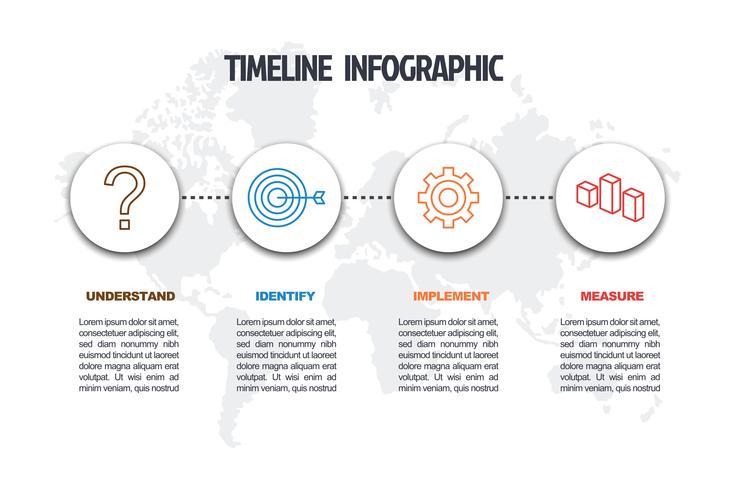 modello di infografica minima di affari vettore