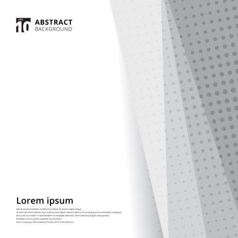 Pattern mezzetinte bianco e grigio vettore