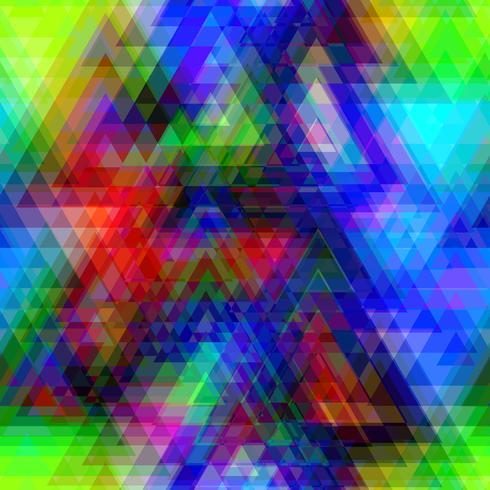 Poligono triangolo colorato vettore