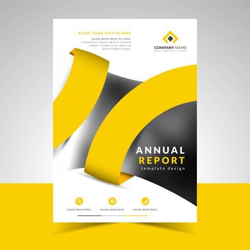 Modello di relazione annuale di business creativo vettore