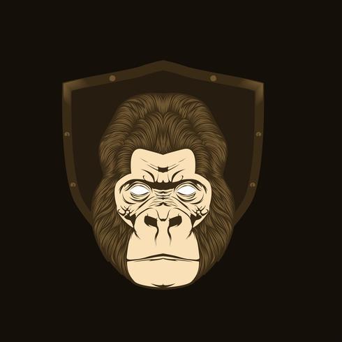 Illustrazione vettoriale di scimmia