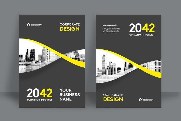 Modello di progettazione copertina di libro aziendale in A4. Può essere adattato a brochure, relazione annuale, rivista, poster, presentazione aziendale, portfolio, flyer, banner, sito Web. vettore