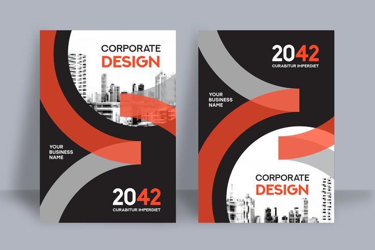 Modello di progettazione della copertina del libro di affari del fondo della città vettore