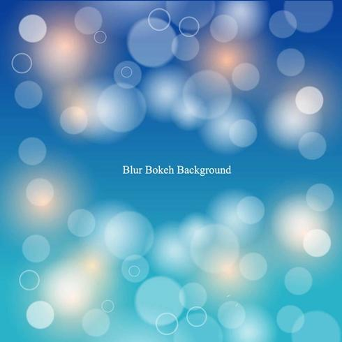 Sfocatura sfondo blu sfumato bokeh vettore