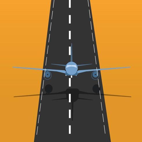 Illustrazione di decollo di volo vettore