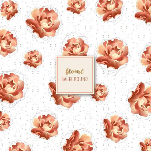 Golden Rose motivo floreale vettore