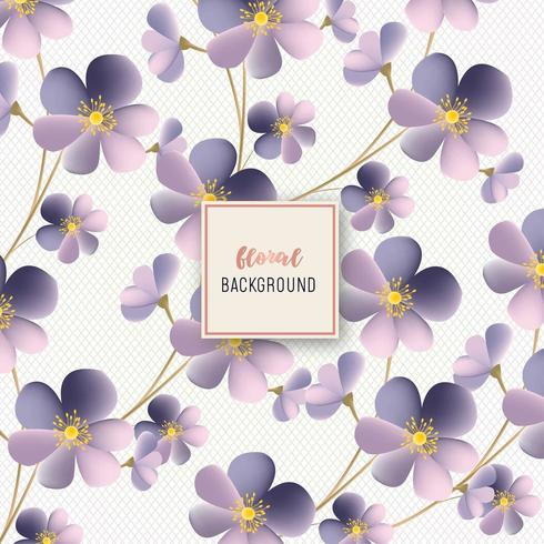 Bel disegno floreale motivo floreale viola vettore