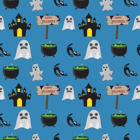 Reticolo senza giunte del fantasma di Halloween vettore