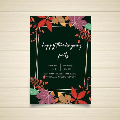 Disegno del manifesto felice festa del ringraziamento vettore