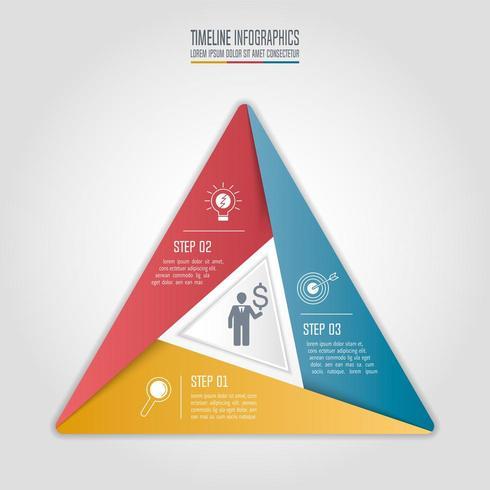 concetto di business infografica con 3 opzioni. vettore
