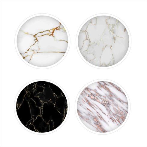 Set di icone rotonde Mable bianco vettore